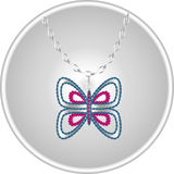 Beau papillon de diamant Photos stock