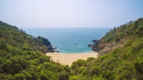 Beau papillon secret de plage État touristique de Goa dans l'Inde Images libres de droits