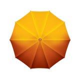 Beau parapluie jaune ouvert Images stock