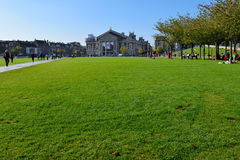Beau parc d'Amsterdam Photos stock