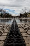 Beau parc de ville, Cidade de Santarém images libres de droits