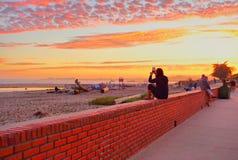 Beau paysage à la côte en Californie centrale image libre de droits