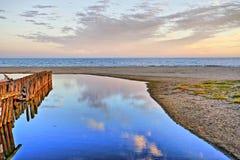 Beau paysage à la plage photos libres de droits