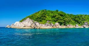 Beau paysage, île de Similan, Thaïlande Images stock
