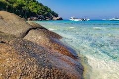 Beau paysage, île de Similan, Thaïlande Image libre de droits