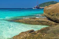 Beau paysage, île de Similan, Thaïlande images libres de droits