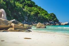 Beau paysage, île de Similan, Thaïlande photos libres de droits
