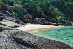 Beau paysage, île de Similan, Thaïlande Photos stock