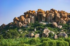 Beau paysage avec de grandes roches, Hampi, Inde photo libre de droits