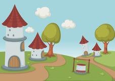 Beau paysage avec la maison illustration libre de droits