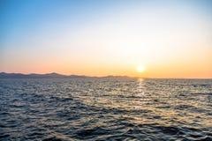 Beau paysage avec la mer et les nuages photo libre de droits