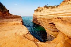 Beau paysage avec le canal populaire de falaises du ` A du canal d d'amour Image stock