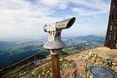 Beau paysage avec le long verre, montagnes Photographie stock libre de droits
