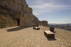 Beau paysage ? c?t? du village d'Ares del maestre photo libre de droits