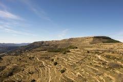 Beau paysage ? c?t? du village d'Ares del maestre photographie stock libre de droits