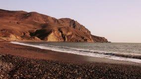 Beau paysage criméen près de cap Meganom banque de vidéos