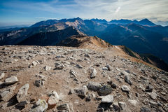 Beau paysage Czerwone Wierchy de montagnes de Tatry Images libres de droits