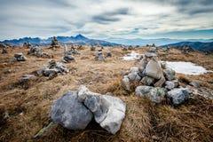 Beau paysage Czerwone Wierchy de montagnes de Tatry Photo libre de droits