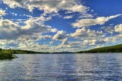 Beau paysage d'été en Suède Photographie stock