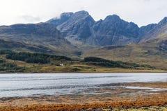 Beau paysage d'île de Skye - l'Ecosse, R-U photos stock