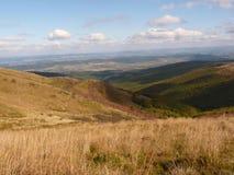 Beau paysage d'automne de montagne Bieszczady Photos libres de droits