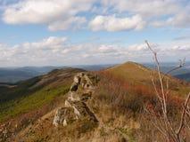 Beau paysage d'automne de montagne Bieszczady Image stock