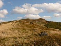 Beau paysage d'automne de montagne Bieszczady Photographie stock