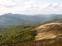 Beau paysage d'automne de montagne Bieszczady Image libre de droits