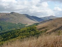 Beau paysage d'automne de montagne Bieszczady Images libres de droits