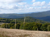 Beau paysage d'automne de montagne Bieszczady Photo stock