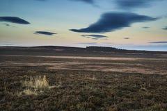 Beau paysage d'Autumn Fall de vallée d'espoir à partir du bord de Stanage Image stock