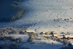 Beau paysage d'hiver Images libres de droits