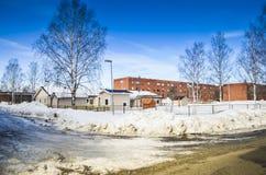 Beau paysage d'hiver sous le ciel bleu photo libre de droits