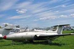 Beau paysage dans l'aéroport avec de vieux avions sur le CCB Photo libre de droits