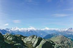 Beau paysage dans les Alpes Images libres de droits