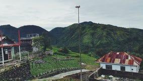 Beau paysage dans Magetan photographie stock
