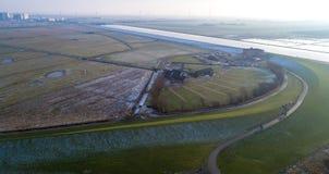 Beau paysage dans Nordfriesland, Schleswig-Holstein photo stock