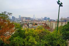 Beau paysage de campus universitaire de Wuhan photographie stock libre de droits