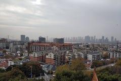 Beau paysage de campus universitaire de Wuhan photos libres de droits