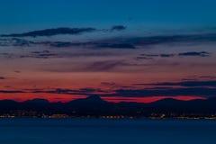 Beau paysage de ciel au crépuscule photo stock