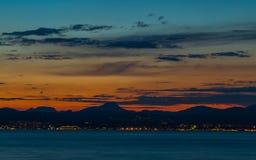 Beau paysage de ciel au crépuscule image libre de droits