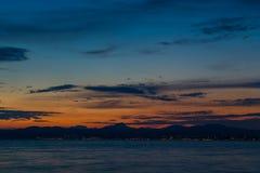 Beau paysage de ciel au crépuscule images stock