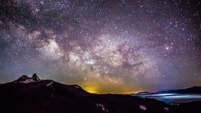 Beau paysage de ciel de manière laiteuse Image libre de droits