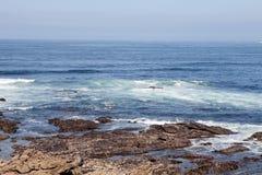 Beau paysage de la côte de Bayona Photos libres de droits