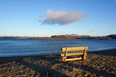 Beau paysage de la mer de Barents à la côte arctique dans Te Images libres de droits