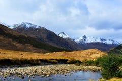 Beau paysage de la montagne glace-couverte Images stock