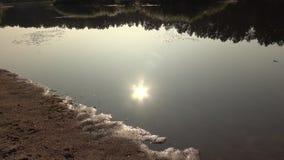 Beau paysage de la rivière Dvina occidental banque de vidéos