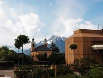 Beau paysage de la terrasse de toit de l'hôpital de SALK photos libres de droits