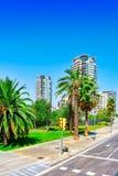 Beau paysage de la vue urbaine Barcelone Photos libres de droits