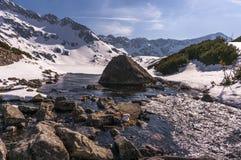 Beau paysage de lac de montagne Hauts tatras poland Photos libres de droits